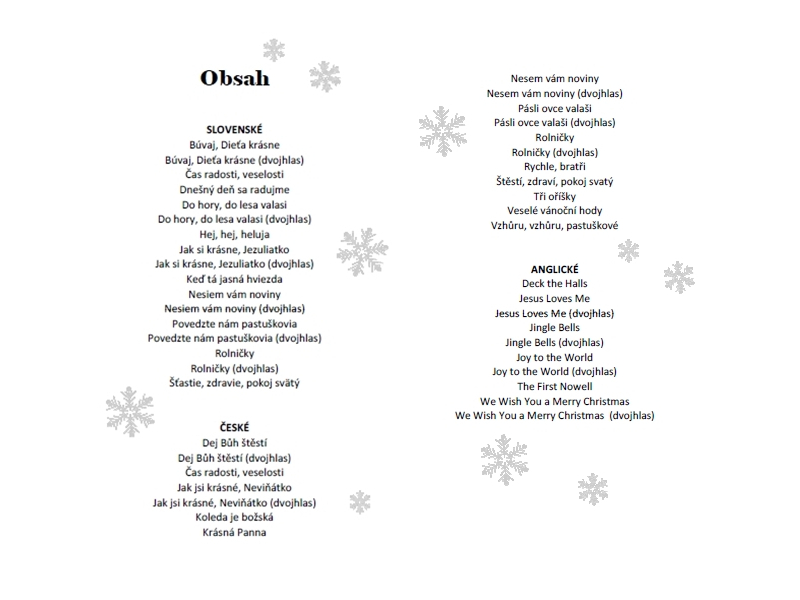 Koledy a vianočné piesne pre zvončeky