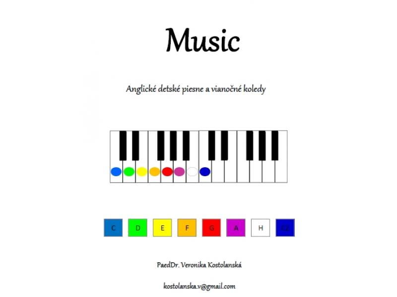 Music- predloha pre detský klavír- Anglické detské piesne a koledy