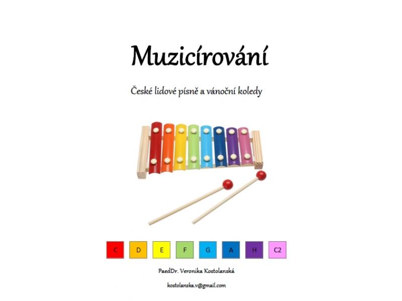 Muzicírování- predloha na hru na xylofóne (B)- České ľudové piesne a koledy