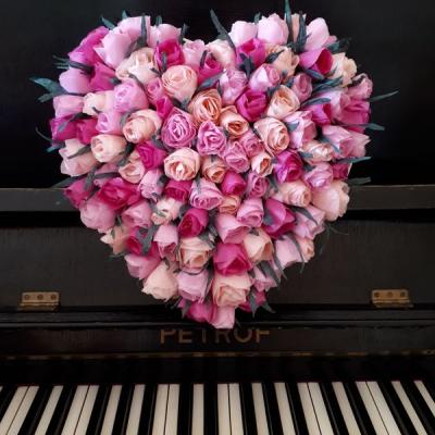 Srdce s ružami