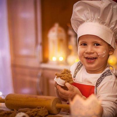 Detska kuchar.čiapka,s menom alebo na suchy zips