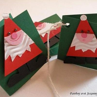 visačky na darčeky Veselí retro Mikuláši