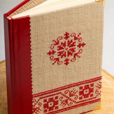 Zápisník s výšivkou