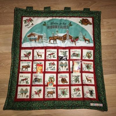 Adventný kalendár retro