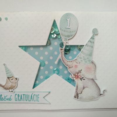 Detská gratulačná pohľadnica