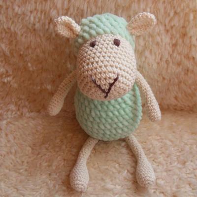 Milá háčkovaná ovečka (zelená)