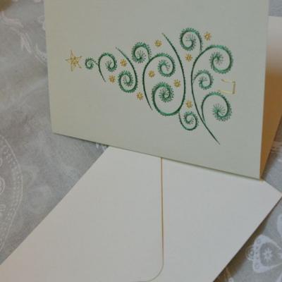Vianočný stromček - pohľadnica