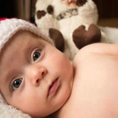 Vianočné fotenie bábätiek