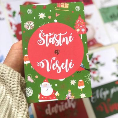 Vianočné miľnikové kartičky