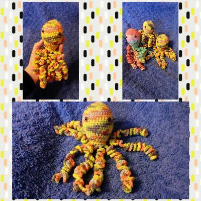 Chobotnička žltý melír veľká