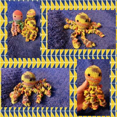 Chobotnička žltý melír menšia