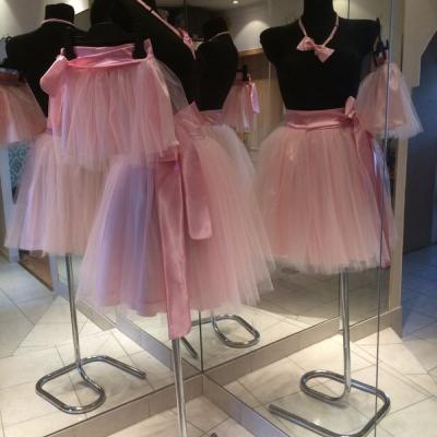Ružová tutu sukňa