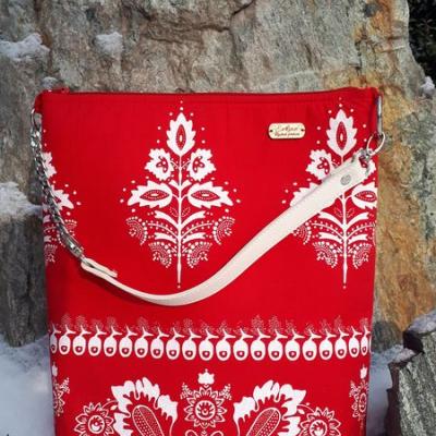 Praktický set folklórna taška + kozmetická taštička