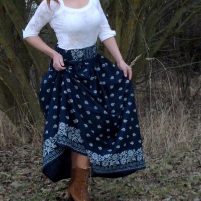 Suknica Bordúra Folk dámska dlhá