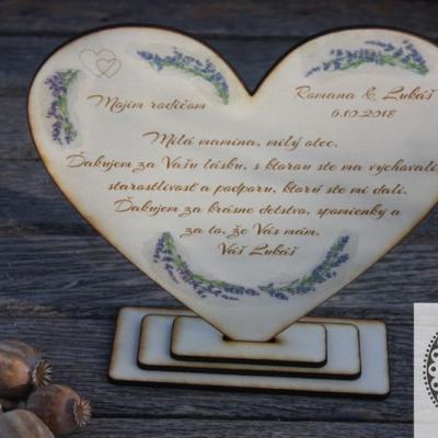 Svadobné ďakovné srdce