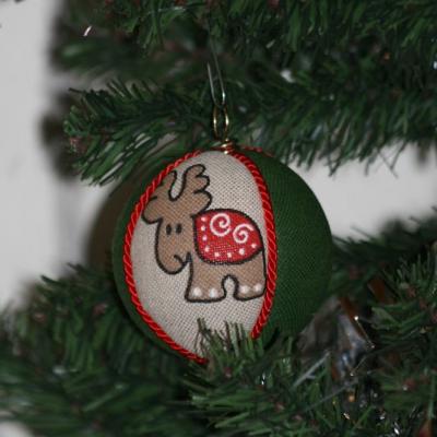 Vianočné gule  - perník/zelené