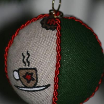 Vianočné gule  - káva/domček/ponožka