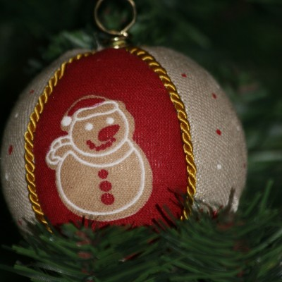 Vianočné gule  - snehuliak
