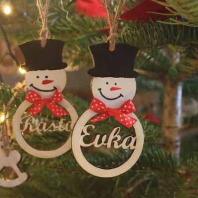 Vianočný snehuliak s menom