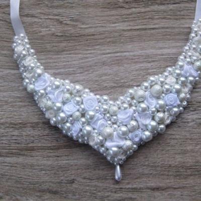 Svadobný perlový náhrdelník č. 2563