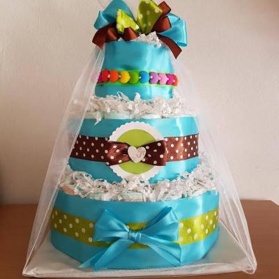 Veselá plienková torta :)