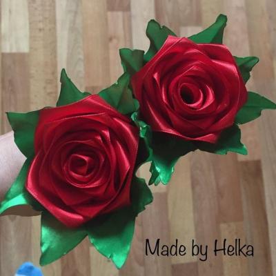 ruža zo saténu