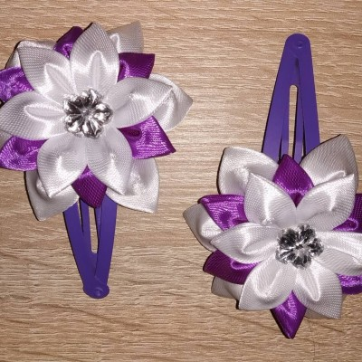 Sponky s kvetinkou