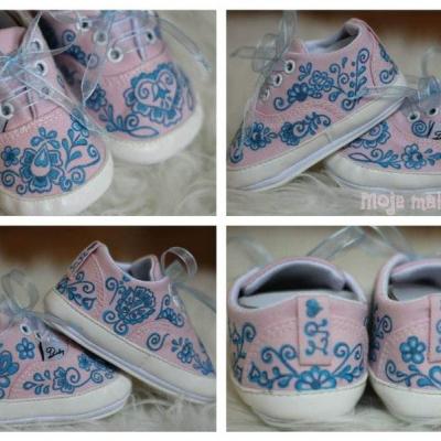 Maľované topánočky