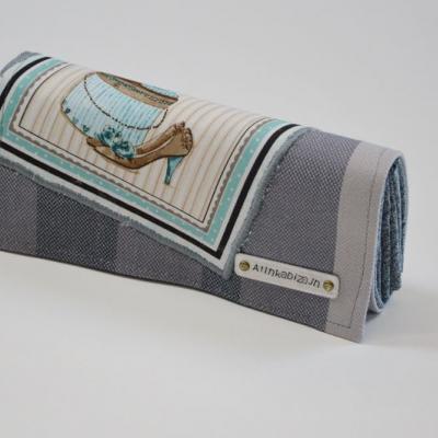 Priehradková peňaženka zo scrapu Lenny Lamb Bamboo Barite s panelom topánky