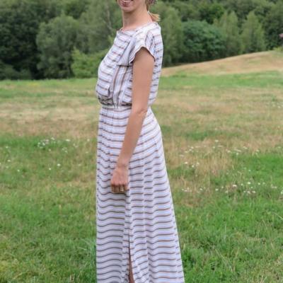Šaty na dojčenie - LATTE STRIPES