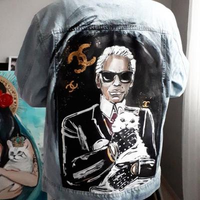 Karl , maľovaná bunda