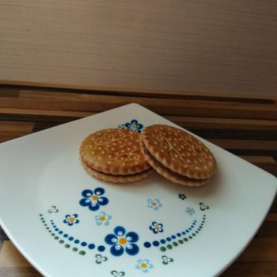 Modré kvety dezertný tanier