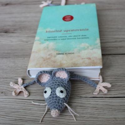 Záložka do knihy - šedý potkan