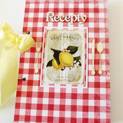 receptár červený s citrónom