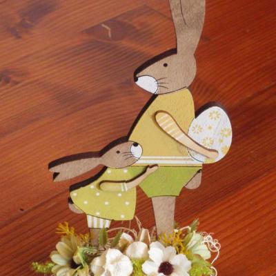 Veľkonočný drevený zajačikovia