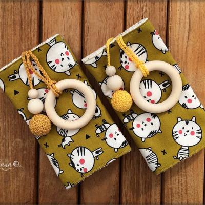 Slintáčiky Mačky okrové - návleky na ergonomický nosič