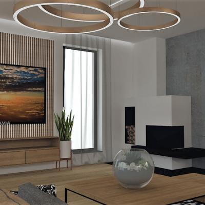 Návrh interiéru _ obývačka + kuchyňa