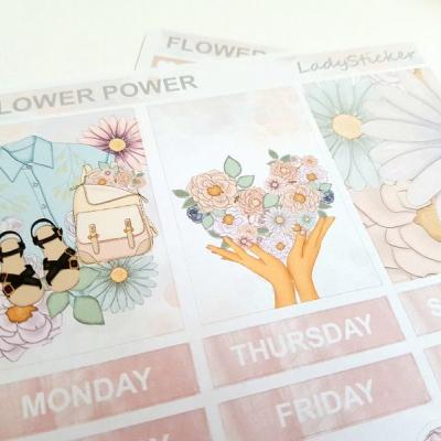 Samolepky Flower Power