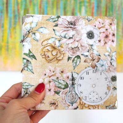 Kvetinový vintage nekonečný zápisník