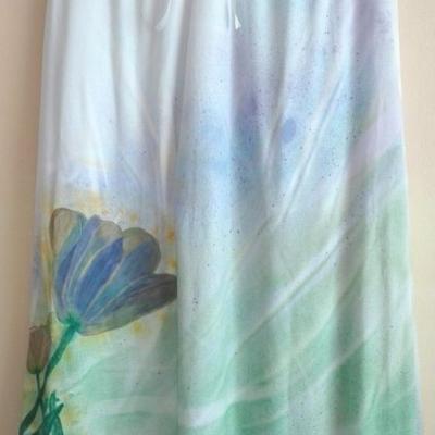 Letná maxi sukňa maľovaná