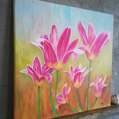 Tulipány - obraz (40x40cm)