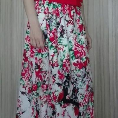 Dvojdielová maxi sukňa