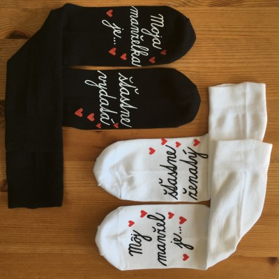 Originálne MAĽOVANÉ svadobné ponožky