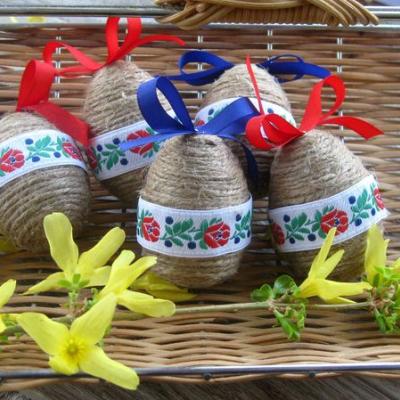 Veľkonočné vajíčka ľudové folk 5 ks
