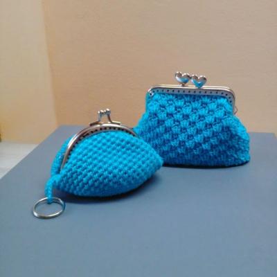 Háčkované  peňaženky-taštičky