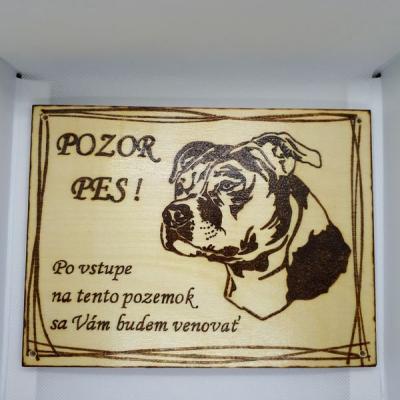 Tabuľka pozor pes XI.