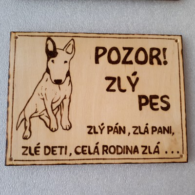 Tabuľka pozor pes XII.