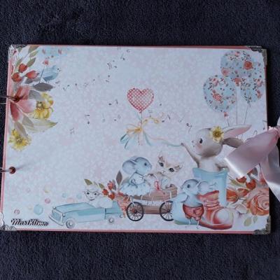 Zajkový fotoalbum pre dievčatko