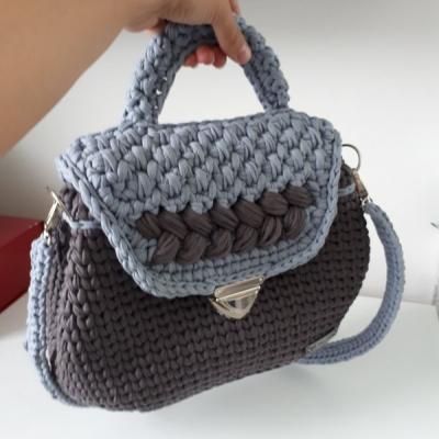 Hačkovaná veľká kabelka