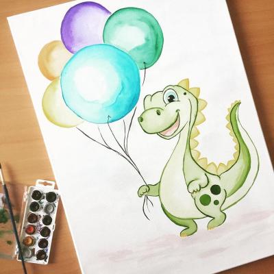 Dino s balónmi